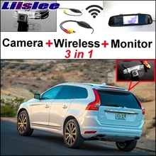 Liislee 3 in1 Special Rear View Wifi Camera + Wireless Receiver + Mirror Monitor Easy DIY Buck Up Parking System For Volvo XC60