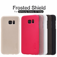 Original Nillkin Super Frosted Shield Hard Back PC Cover Case For Samsung Galaxy S7 Edge Phone Case + Screen Protector