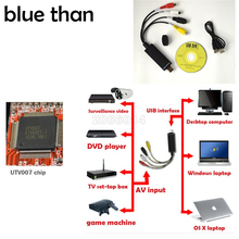 blue than USB 2.0 HDMI to RCA usb adapter converter Audio Video PC CableS TV DVD VHS capture device utv007 pk easycap