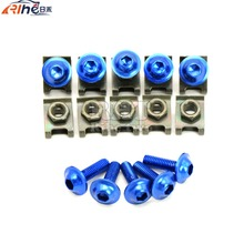 blue Universal 6mm motorcycle fairing screw kit set screws for Yamaha YZF R6 99 00 01 02 YZF R1 R6 R3 R25 Tmax T MAX 500 530