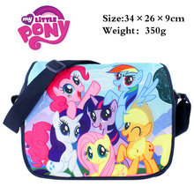 Polyester shoulder bag printed w/My Little Pony: Friendship Is Magic Twilight Sparkle/Rainbow/Apple Jack/Rarity/Fluttershy