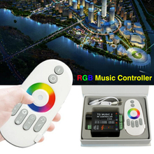 DC12V-24V Music 2 Led RGB RF Remote Music Controller 20m Effective Control Max 18A Intelligent Sonic Audio Controller WAC34