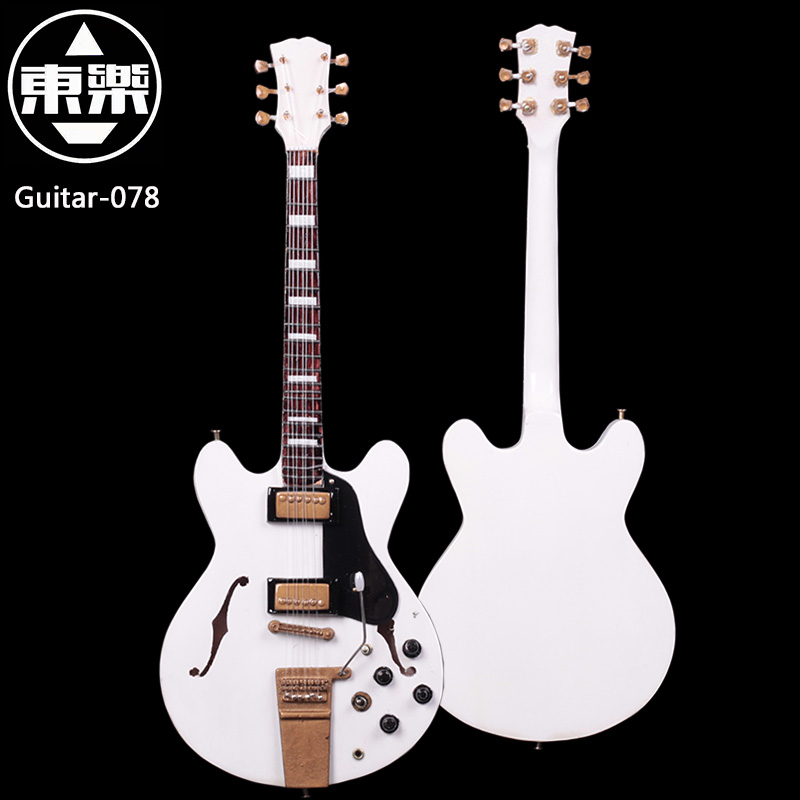 Wooden Handcrafted Miniature Guitar Model guitar-078 Guitar Display with Case and Stand (Not Actual Guitar! for Display Only!)<br>