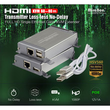HSV560 HDMI Extender 1080P One Pair KVM Over Cat Cable Support USB Keyboard And Mouse Transmit Up to 60-80m KVM Extender full HD