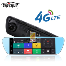 "8"" 4G Touch Special Car DVR Camera Mirror GPS Bluetooth 16GB Android 5.0 Dual Lens Full HD 1080p Video Recorder Dash Cam(China)"