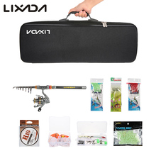 Lixada 2.1/2.4/2.7/3M Telescopic Fishing Rod Reel Combo Full Kit Spinning Reel Pole Set with  Fish Line Lures Hooks Bag Case