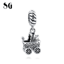 Fit Authentic Pandora silver charms 925 Original Baby car beads collect Charm diy Bracelet Beads Jewelry making for lover Gifts(China)