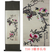 Flower bird pattern silk painting decoration scroll painting and the new special gift wholesale Auspicious Sweet life(China)
