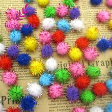 Lucia Crafts 100pcs 15mm Chenille Stems Bendaroos Christmas Plush Ball Hair Root Diy Children Toys Wholesale 22010008(15HS100)