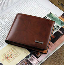 2016 news retro brown Stripe wallet Men's wallets  Colorful Work Fine waterproof  Father's day gift