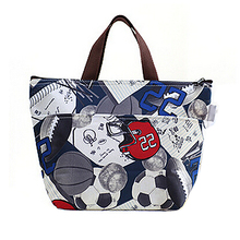 Lunch Box Bag Tote Insulated Cooler Carry Bag,soccer