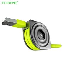FLOVEME Lightning to USB Cable+ Micro USB Charger Cables for iPhone iPad 1M Telescopic Android Cell Phone Micro USB Charge Cabos(China)