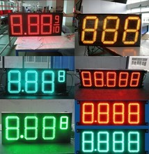 "12"" outdoor red green amber color LED oil price led sign board gas station number led sign(China)"
