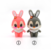 pendrive caroon lovely rabbit usb flash drive64g 32g 16g 8g 4g u disk usb flash hang decorations memory stick pen drive for girl(China)