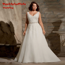 Buy Line Plus Size Wedding Dresses Lace V Neck Cap Sleeves Chapel Train 2016 Sashes Backless Cheap Sexy Vestidos for $283.45 in AliExpress store