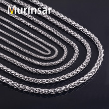 316L Stainless Steel Chain Necklace Width 3 4 5 6 7 8mm Length Customized Round Link Chain Stainless Steel Jewelry Wholesale