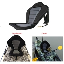 New Style Quality Black/gray Deluxe Kayak Seat Comfortable Backseat backrest for Inflatable Boat