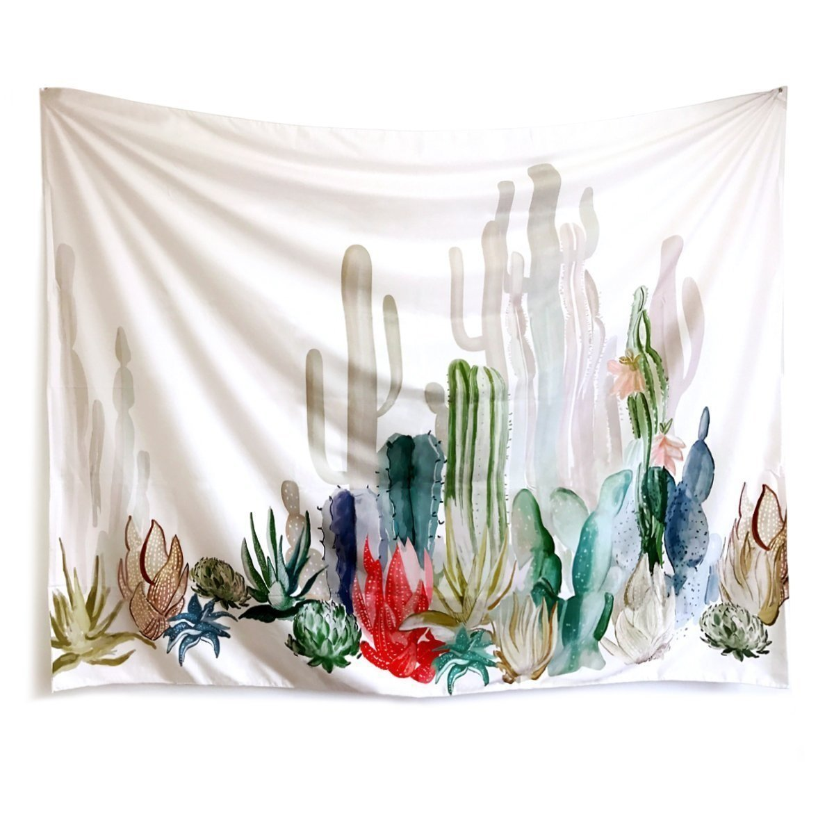 WINLIFE Cactus Landscape Wall Tapestry Fabric Wall Arts Home Decor 58
