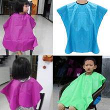 New Arrival 1 PC High Quality Children Salon Waterproof Hair Cut Hairdressing Barbers Cape Gown Cloth Color Random(China)