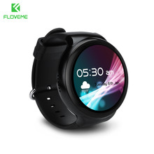 FLOVEME I4 Bluetooth 4.0 Samrt Watch For Android System Support Music Heart Rate Pedonmeter Speaker Smart Watch Alloy Wristwatch(China)