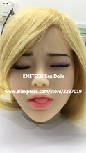 KNETSCH #29 TPE sex doll head for love doll, silicone adult dolls heads with closed eyes, oral sex products