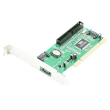 High Quality Chip New 3 ports SATA + IDE Serial HDD ATA PCI Card Converter Adapter For PC Tablet Computer 1.5Gb/s Data Rate