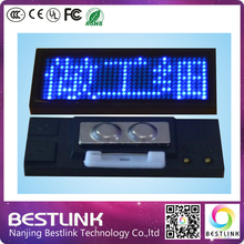 10pcs a lot B1236 LED name badge blue color led scrolling name tag, business card, programmable nameplate, rechargeable