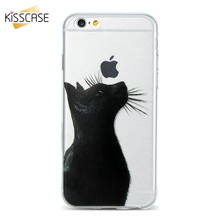 Buy KISSCASE Soft Cute Cat Phone Case iPhone 7 7 Plus iPhone 6 6S Plus 5S 5 SE Cases Ultra Thin Lovely Art Patterned Cover for $2.39 in AliExpress store