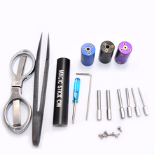 New Magic Stick CW DIY Coil Jig Coiling Kit 6 Size in 1 Coil Jig Coiler Heating Wire Wick DIY RDA RBA Wire Winding Master Tool