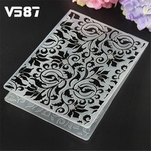 Cake Stencil Biscuit Plastic Embossing Folder DIY Mold Scrapbooking Album Card Cutting Dies Template Craft Tool