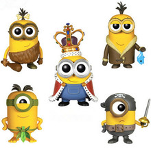 "5 design FUNKO POP Despicable Me Minion King BOB #168 166 167 169 170 PVC Action Figure Collection Toy Doll 4"" 10CM KB096"