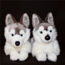 Husky Plush Toy Large Dolls Simulation Animal  Stuffed Children'S Toys Pillow Gift  Huskies Doll  Papa Dog