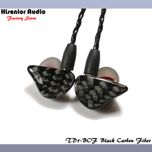 Hisenior Carbon Fiber Faceplate Super Bass Dynamic Driver In-Ear Monitor Noise Cancelling Universal Fit IEMs Custom Earphone