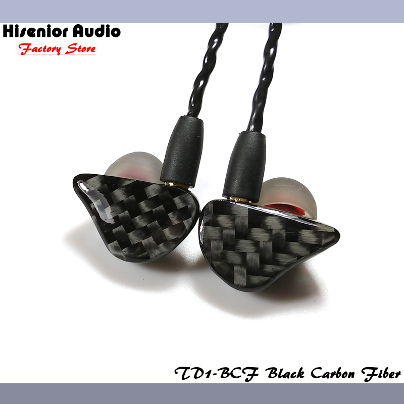 Hisenior Carbon Fiber Faceplate Super Bass Dynamic Driver In-Ear Monitor Noise Cancelling Universal Fit IEMs Custom Earphone(China (Mainland))