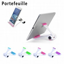 Portefeuille Tablet Cell Phone Stand Holder Foldable Portable Mobile Holder Mount Lazy Bracket for Smartphones Apple iPad bed(China)