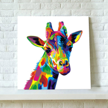 Abstract giraffe painting 100% Hand Painted Oil Painting Paintings Modern For Room Decor Pictures Canvas Painting cartoon animal