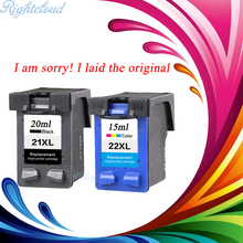 2 Pcs Ink Cartridge for HP 21 22 XL For HP cartridges 21 and 22 for HP Deskjet 3915 D1530 D1320 F2100 F2280 F4100 F4180 printer(China)