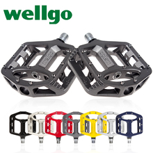 Buy Taiwan wellgo mountain bike bearing foot 1 MG alloy road bikes pedal bicycle parts for $35.98 in AliExpress store