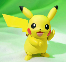 NEW hot 10cm Pikachu lovely movable action figure toys collection christmas toy doll with box(China)