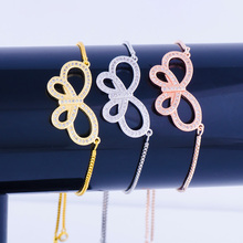 Europe and the United States popular copper bracelet color protection bowknot bracelet jewelry adjustable girls bracelet(China)