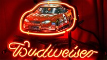 "NEON SIGN ForEarnhardt Jr Budweiser #8 Winston Race Cup Car GLASS Tube BEER BAR PUB store display Shop Light Signs 17*14""(China)"