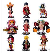 9pcs/set New 3.5-7cm One Piece Luffy Zero Nami Usopp Tony Chopper Sanji Nico Franky Brook PVC Action Figure Model Toy Gift