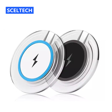 SCELTECH Qi Wireless Charger Pad for Samsung Galaxy S7 S6 S8 edge Note 5 Qi Mobile Cell Phone Smartphone Charge Charging Dock
