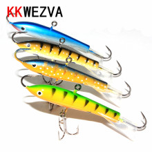 Buy KKWEZVA 4pcs 75mm 20g Fishing Lure winter Ice Fishing Hard Bait Minnow Pesca Isca Artificial Bait Crankbait Swimbait Winter for $8.45 in AliExpress store