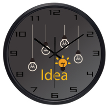 Creative Idea Bulb Wall Clock for Workshop Office Advertising Design(China)