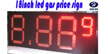Outdoor big size gas price sign 8.889 18inch 4digits red led gas price sign(China)