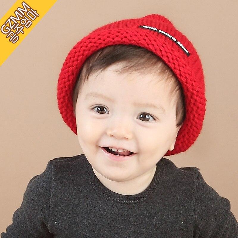 Korean boys and girls 1-2 years old baby Baby Hat Winter Hat 0-3 6-12 months children Winter HatÎäåæäà è àêñåññóàðû<br><br><br>Aliexpress