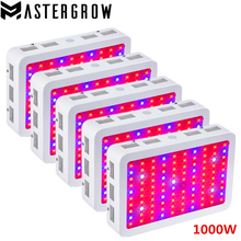 5PCS DIAMOND II 1000W Double Chips LED Grow Light Full Spectrum 410-730nm Red/Blue/White/UV/IR For Indoor Plants and Flower(China)