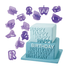 NEW 2015 40pcs Alphabet Letter Number Fondant Cake Biscuit Baking Mould Cookie Cutters ZH810(China)