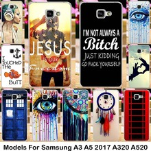 Silicone Plastic For Samsung Galaxy A3 A5 2017 A320 A520 A3200 A5200 Cases Phone Accessories bag Dreamcatcher Telephone Booth